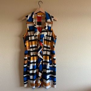 New York & Company Multicolored dress with ruffles